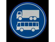 Verkeersbord RVV F19 - Rijbaan of -strook bus en vrachtverkeer