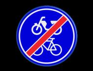 Verkeersbord RVV G12b - Einde verplicht fiets / bromfietspad