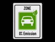 Zonebord begin ZERO Emissie - milieuzone