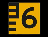 Scheepvaartbord BPR G.5.1 Hoogteschaal - geel/zwart rechts