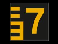 Scheepvaartbord BPR G.5.1 Hoogteschaal - zwart/geel rechts