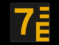 Scheepvaartbord BPR G.5.1 Hoogteschaal - zwart/geel links