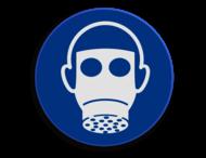 Veiligheidspictogram - Gasmasker dragen verplicht - M017