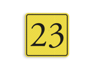 Huisnummerbord (LOS)  geel/zwart