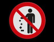 Veiligheidspictogram - Geen afval op de grond gooien