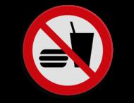 Veiligheidspictogram - Eten en drinken verboden - P022