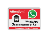 WhatsApp Attention! Neighborhood Protection - L209wa-g