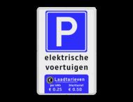 Parkeerbord ET-naam + RVV E04 + onderblok wit