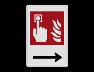 Brandweer - Brandalarm - F005 + Pijl rechts