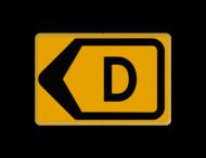 Tekstbord - T201l-d - Werk in uitvoering