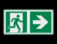 Veiligheidspictogram - Vluchtroute naar rechts