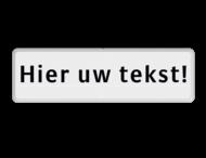 Tekstbord wit/zwart 1 regelig