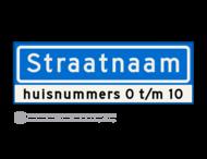 Straatnaambord KOKER - 10 karakters - 600x200 mm + huisnummer(s) - NEN1772