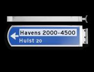 Lichtwegwijzer LWW2r - LED - RVS behuizing 1875x120x580mm