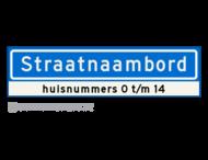 Straatnaambord KOKER - 14 karakters - 800x200 mm + huisnummer(s) - NEN1772