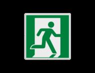 Vluchtroute bordje E002 - Nooduitgang rechts