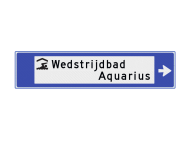 Verwijsbord watersport 1130x265x32mm