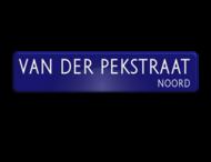 Straatnaambord ALU-DOR 900x200x28mm - type Amsterdam