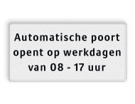 Informatiebord 400x200 'automatisch open'