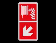 Brand bord F002 - Blusslang met pijl