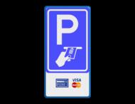 Verkeersbord RVV BW112 - Betaald parkeren + pictogrammen