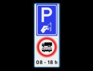 Verkeersbord RVV BW111 - C12b + eigen tekst