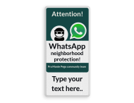 WhatsApp Attention! International sign + own text