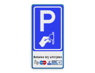 Parkeerbord - betaald parkeren