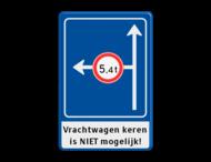 Verkeersbord RVV L10-02l +ondertekst