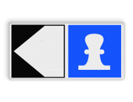 Scheepvaartbord BPR E. 7-F2a