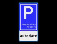 Verkeersbord RVV E09 - autodate