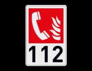 Brand bord F006 - Telefoon voor brandalarm met tekst