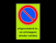 parkeerverbod RVV E01 + eigen tekst