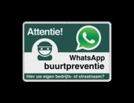WhatsApp Attentie Buurtpreventie verkeersbord 01