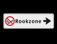 Routebord pijl rechts - Rookzone + eigen tekst