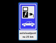 Verkeersbord RVV BW101_SP19 - auto laadpunt - txt