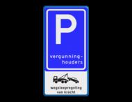 Verkeersbord RVV E09 - PICTO - Parkeerplaats vergunninghouders.