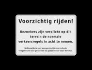 Informatiebord wit/zwart - aansprakelijkheid