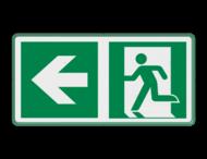 Veiligheidspictogram - Vluchtroute naar links