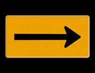 Tekstbord - OB501t - Pijl links/rechts - Werk in uitvoering
