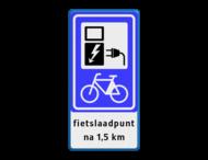 Verkeersbord RVV BW101_SP20 fiets-laadpunt - txt