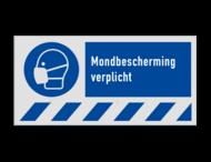 Gebodsbord M016 - Mondbescherming verplicht