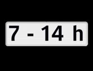 Verkeersbord RVV OB201p - Onderbord - Geldt alleen voor periode