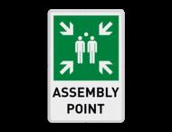 Verzamelplaats engels bord met tekst | Assembly Point