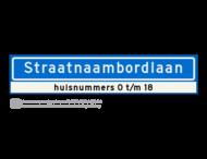 Straatnaambord KOKER - 18 karakters - 1000x200 mm + huisnummer(s) - NEN1772