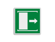 E033 - Vluchtroute - Deur naar rechts schuiven om te openen