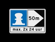 Scheepvaartbord BPR E. 7 + F.2a + F.3