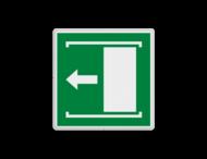 E034 - Vluchtroute - Deur naar links schuiven om te openen