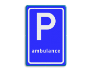 Verkeersbord RVV E08k - Parkeerplaats ambulance
