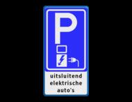 Verkeersbord RVV E08O - oplaadpunt + TXT